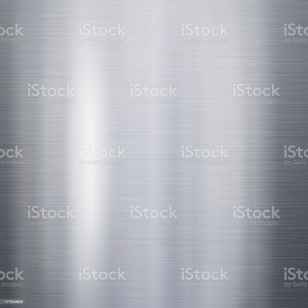 Brushed aluminum metal plate royalty-free stock photo