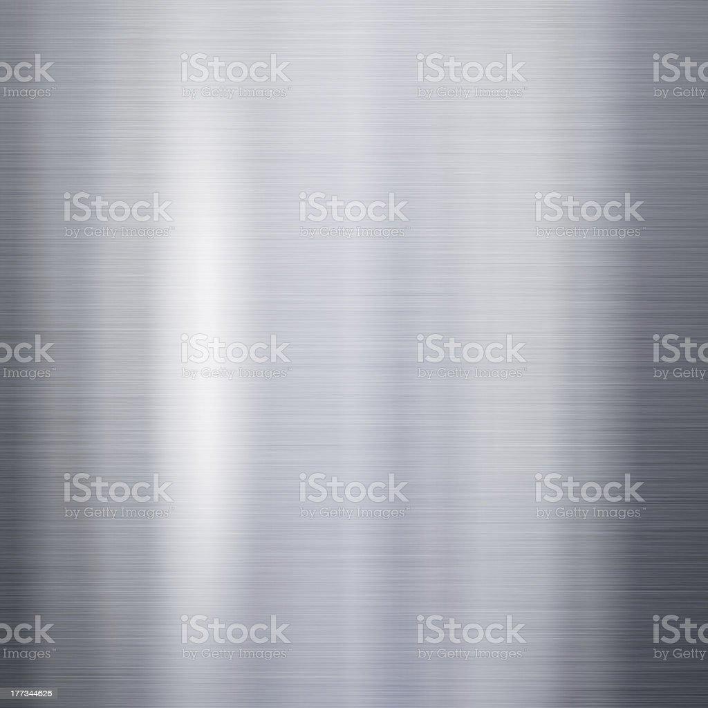 Brushed aluminum metal plate stock photo