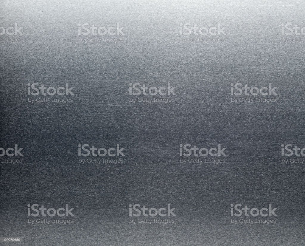 Brushed Aluminum Sheet Metal Horizontal Pattern Background royalty-free stock photo