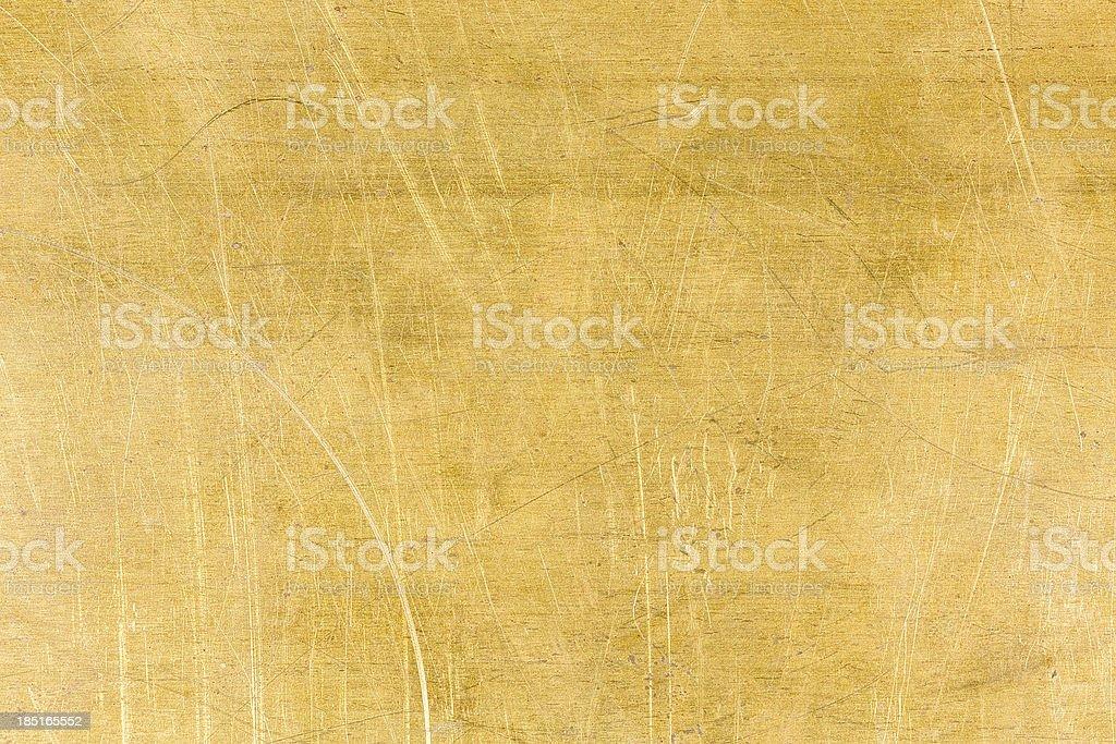 Brushed brass metal royalty-free stock photo