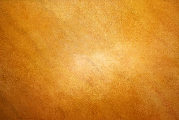 Brushed brass plate background texture stock photo