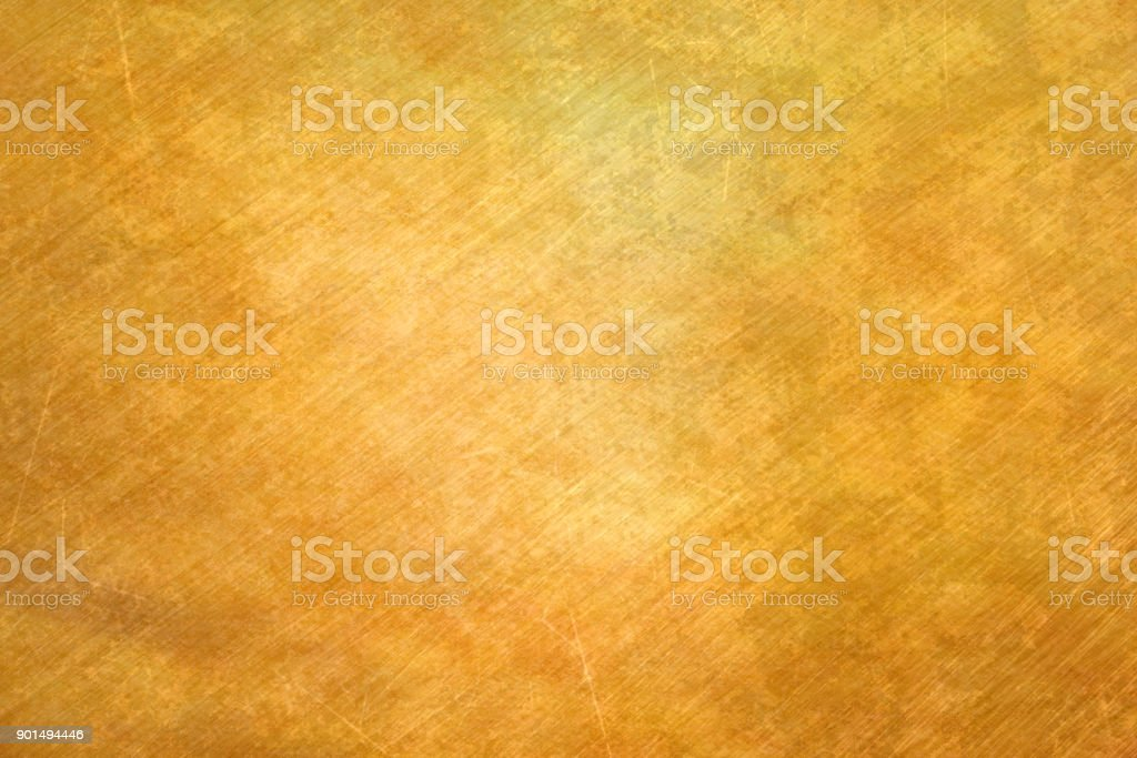 Brushed brass plate stock photo