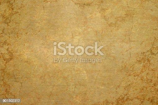 Brushed brass plate,golden plate  texture .