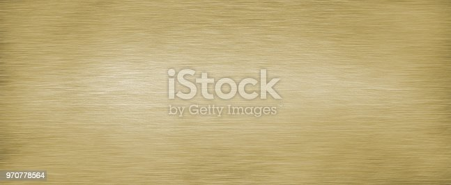 istock Brushed brass plate 970778564