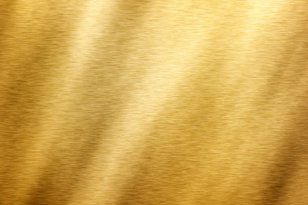 brushed brass texture stock photo