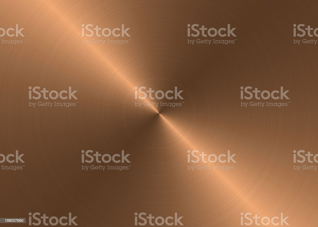 Brushed bronze texture with radial reflection royalty-free stock photo