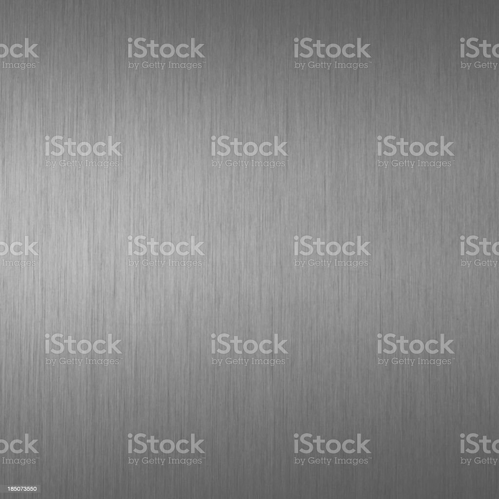Brushed carbon gray metal texture stock photo