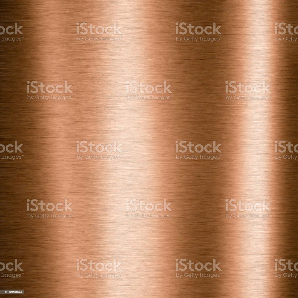 Brushed copper metallic plate royalty-free stock photo