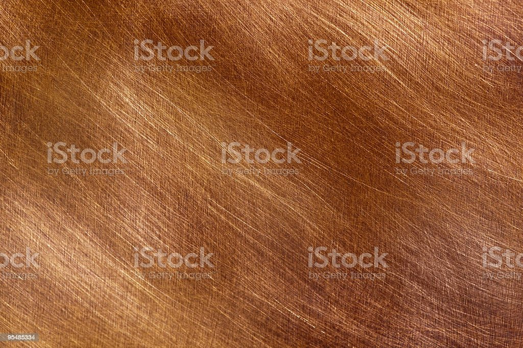 Brushed copper texture background stock photo