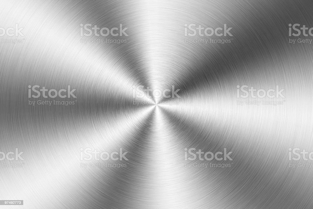Brushed gold metal plate stock photo