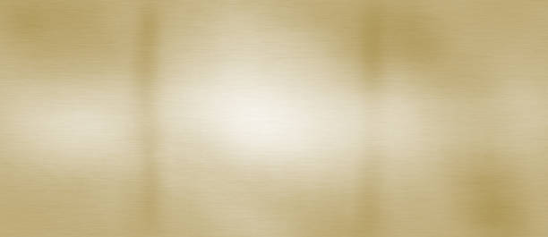 Brushed golden brass plate stock stock photo