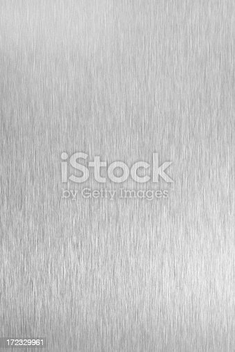 Photograph of real brushed metal surface - not a photoshop effect.