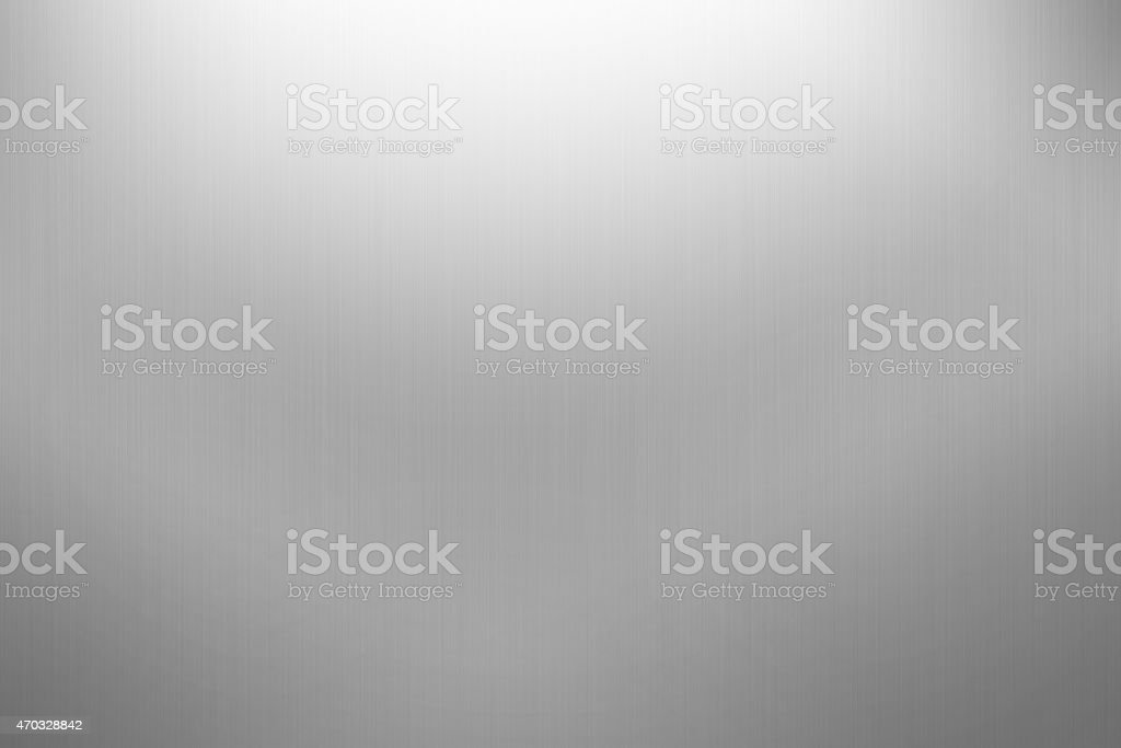 Brushed metal background on gray stock photo