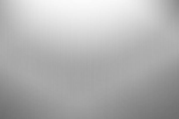 brushed metal background on gray - aluminium stock photos and pictures