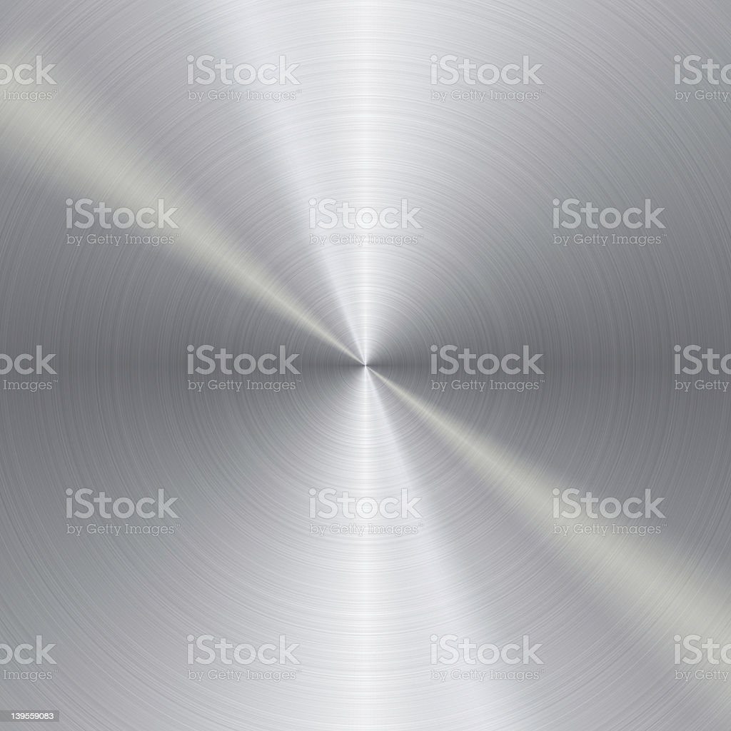 Brushed metal circle background stock photo