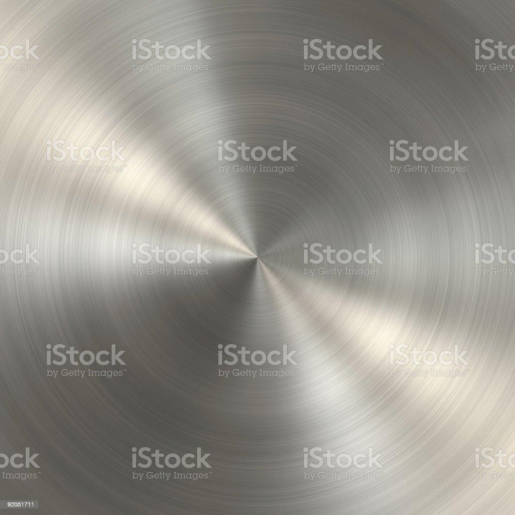 Gebürstetes Metallschild, Runden – Foto