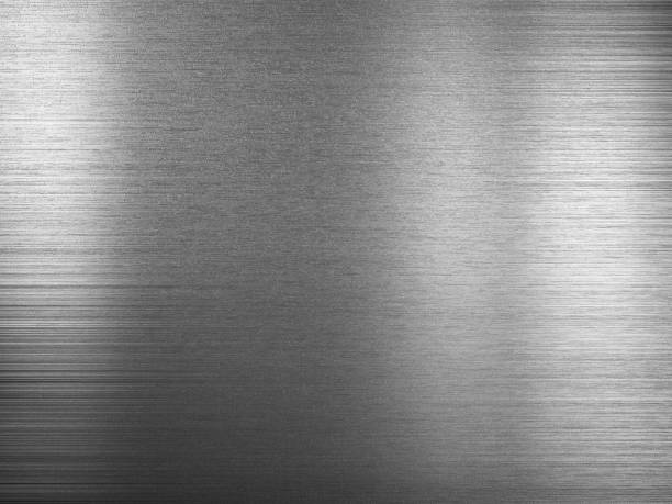 Brushed metal plate Brushed metal plate metal stock pictures, royalty-free photos & images
