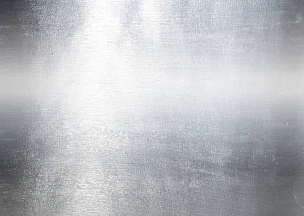 Brushed metal plate Brushed metal plate sheet metal stock pictures, royalty-free photos & images