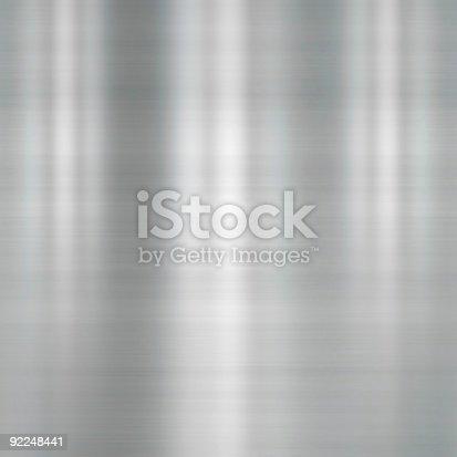 istock Brushed metal plate 92248441