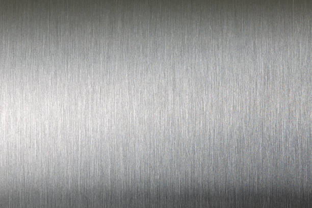 brushed metal texture abstract background - borstelen stockfoto's en -beelden