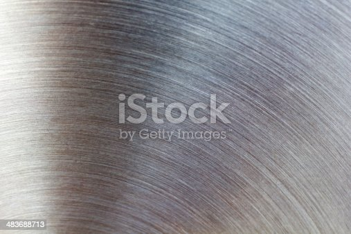 istock Brushed metal texture abstract background 483688713