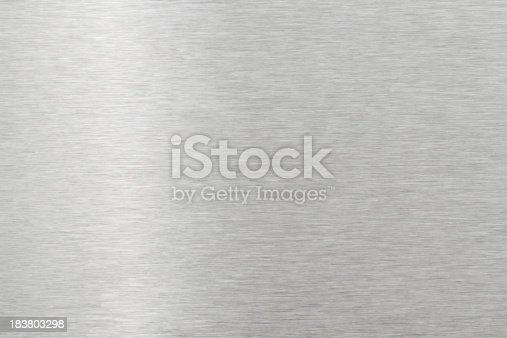 istock Brushed metal texture 183803298
