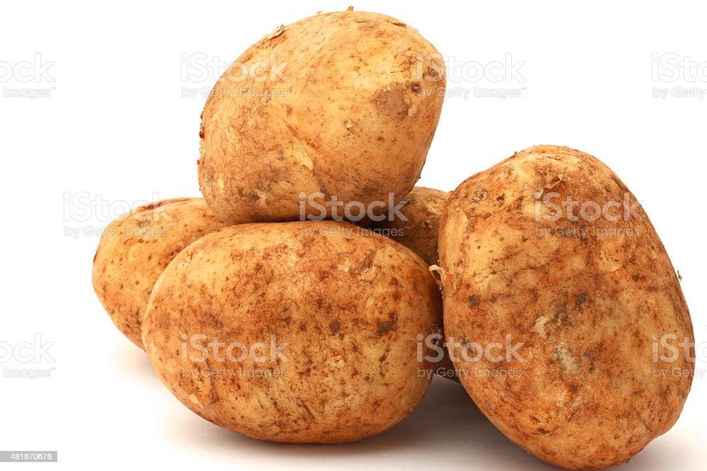 Brushed Potato stock photo