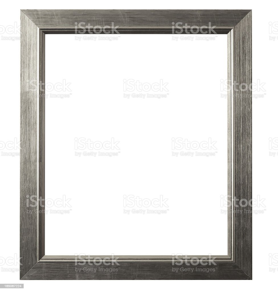 Brushed Silver Picture Frame stock photo