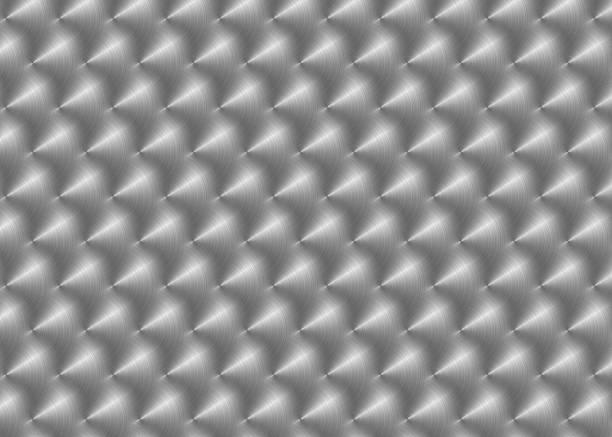 Gebürstetem Edelstahl mit kreisförmigen Reflektionen – Foto