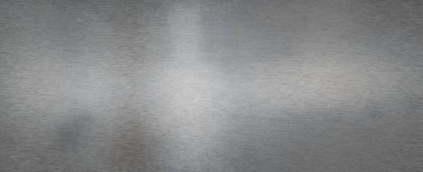 Brushed steel metal sheet stock photo
