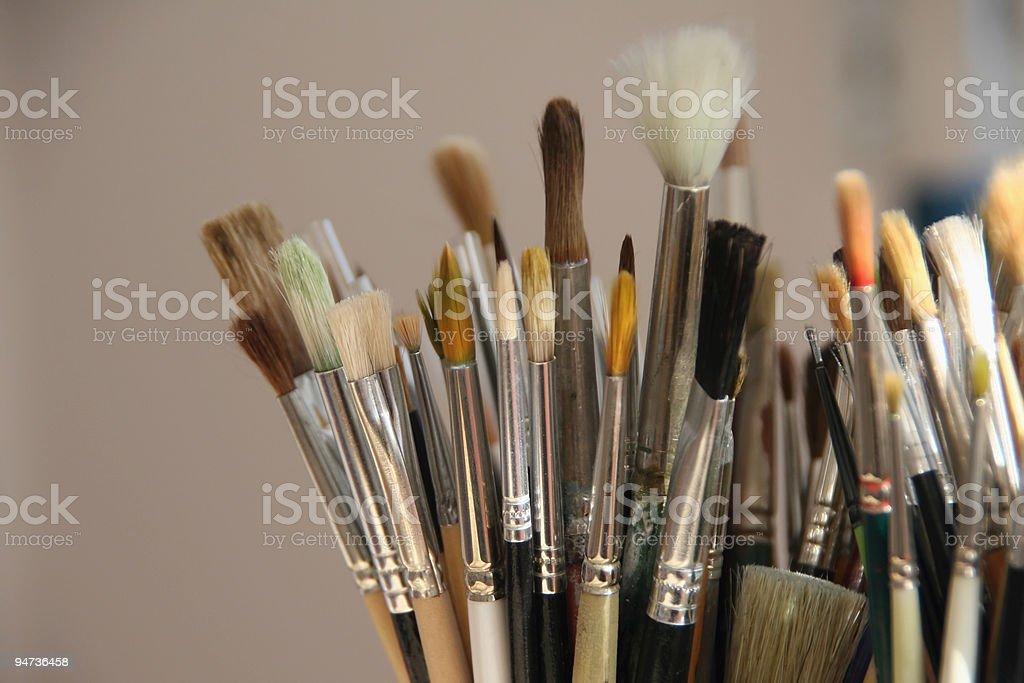 Brushes Detail royalty-free stock photo