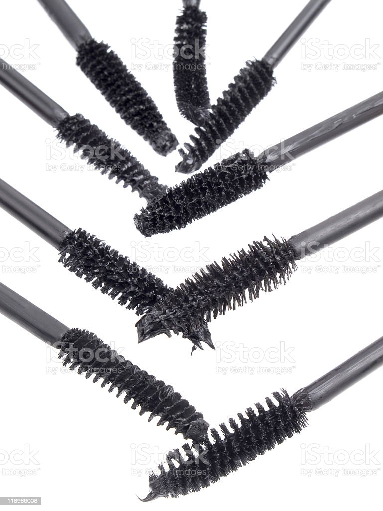 brushes for a mascara stock photo