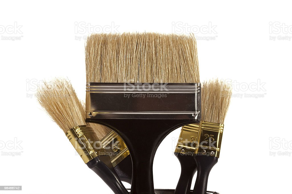 Brushes for painting royalty-free stock photo