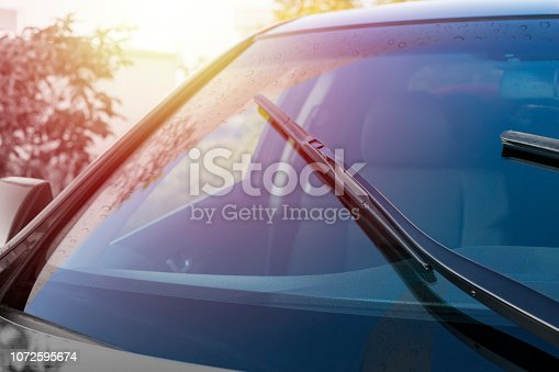 istock Brushes on the windshield with copy space 1072595674