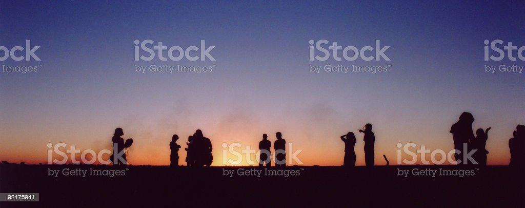 Brushfire at Sunset royalty-free stock photo