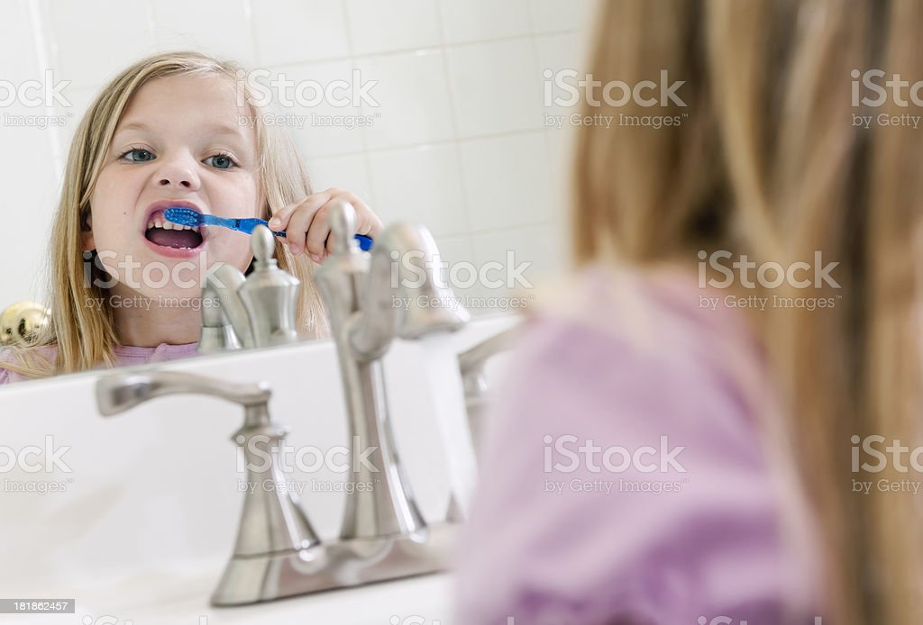 Brushing royalty-free stock photo