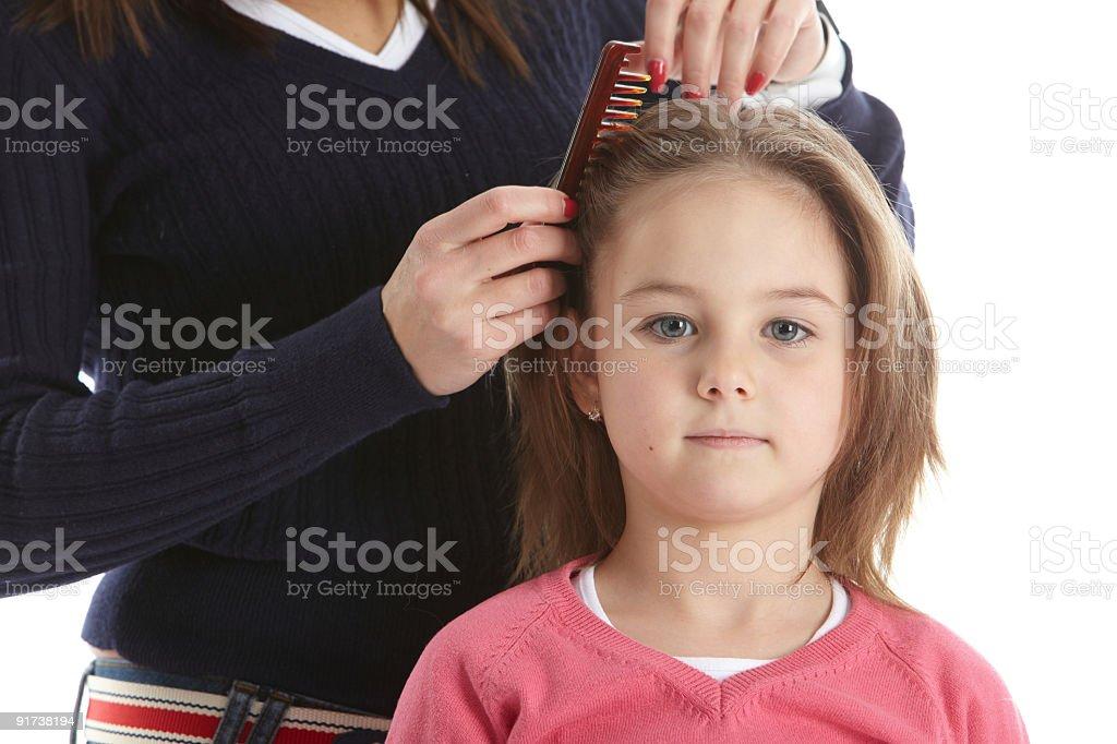 Brushing royalty-free stock photo
