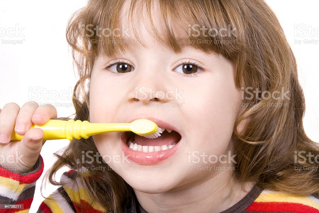 Brushing Teeth 2 royalty-free stock photo