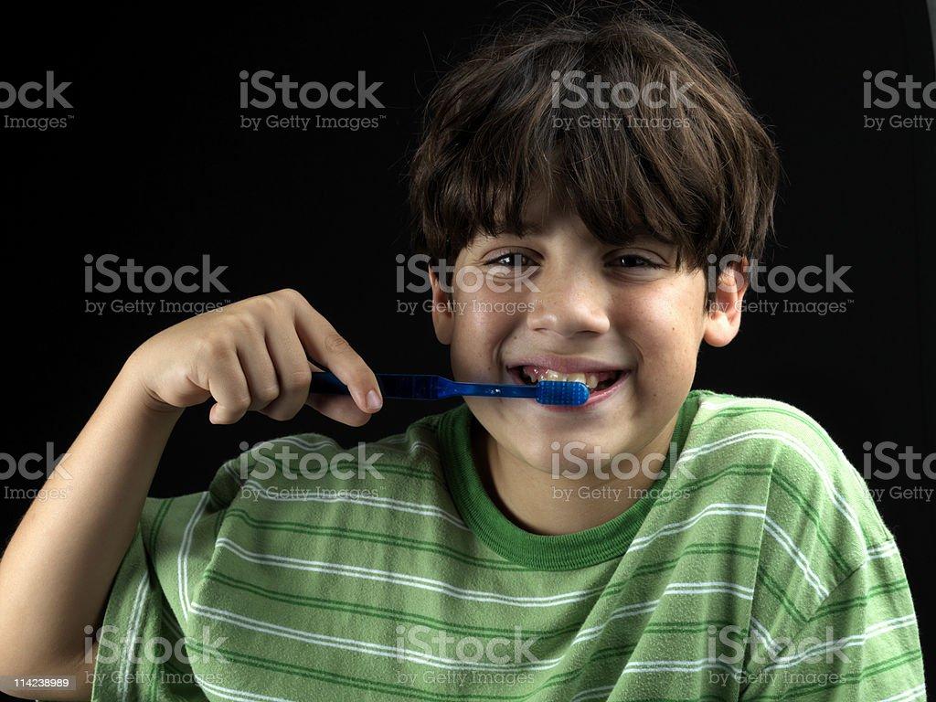 Brushing the teeth royalty-free stock photo