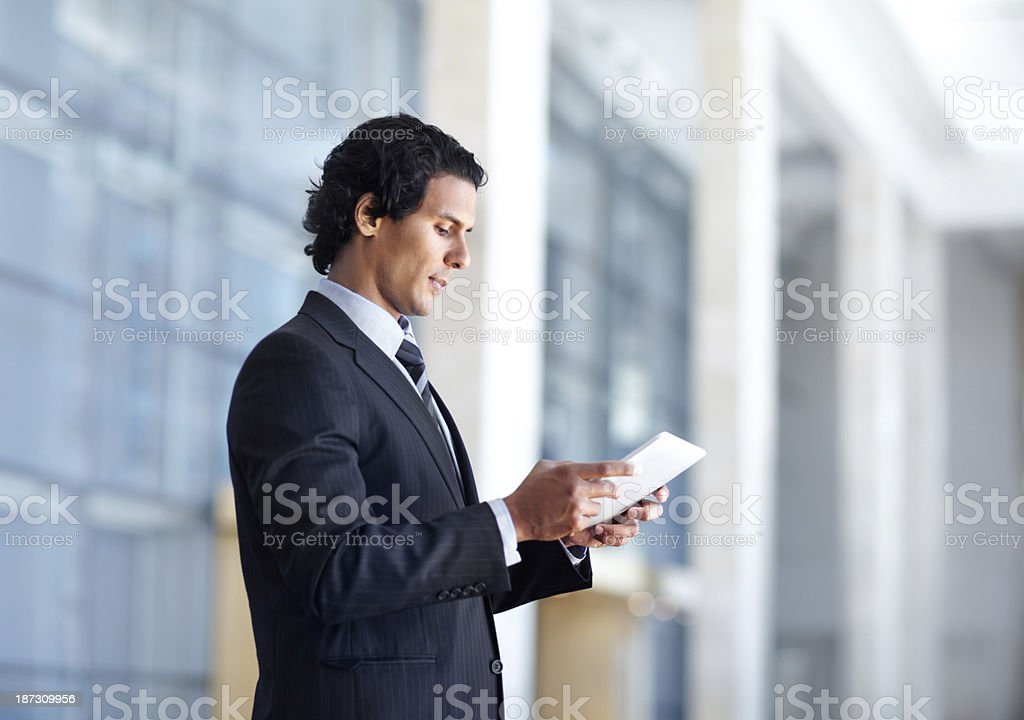 Brushing up on the business brief royalty-free stock photo