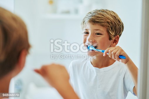 948443044istockphoto Brushing your teeth is an important routine 948443270