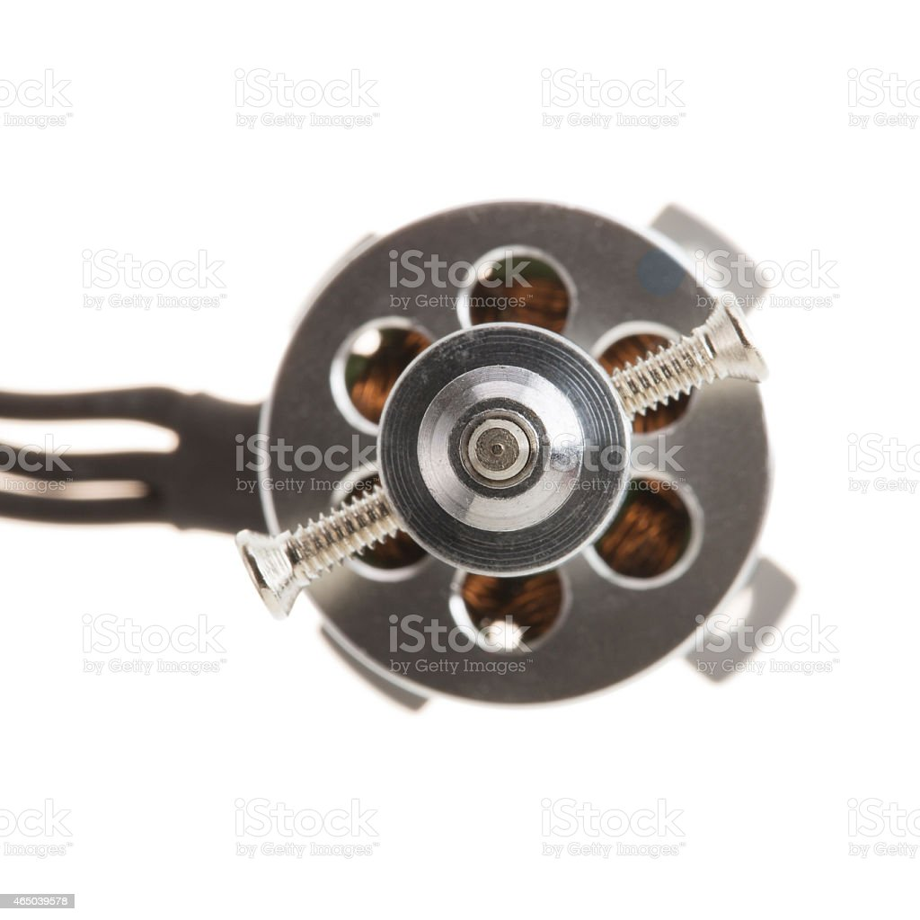 Brushless Motor with Propeller mount stock photo