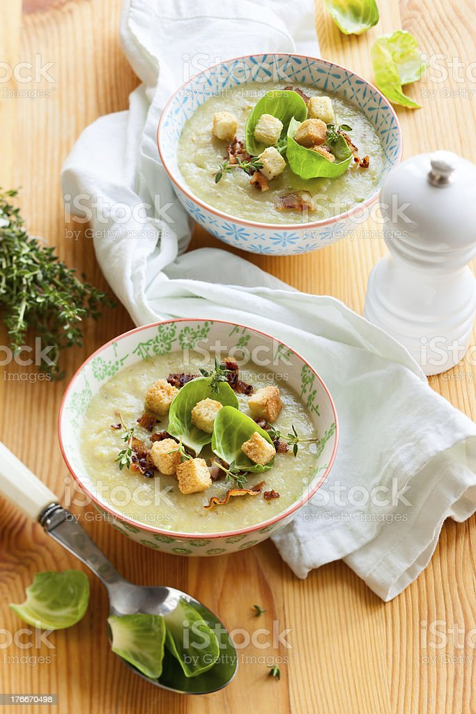 brussel sprout soup royalty-free stock photo