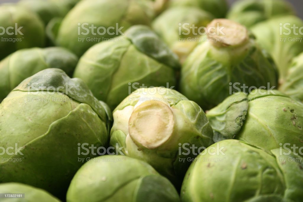 Brussel sprouts background royalty-free stock photo