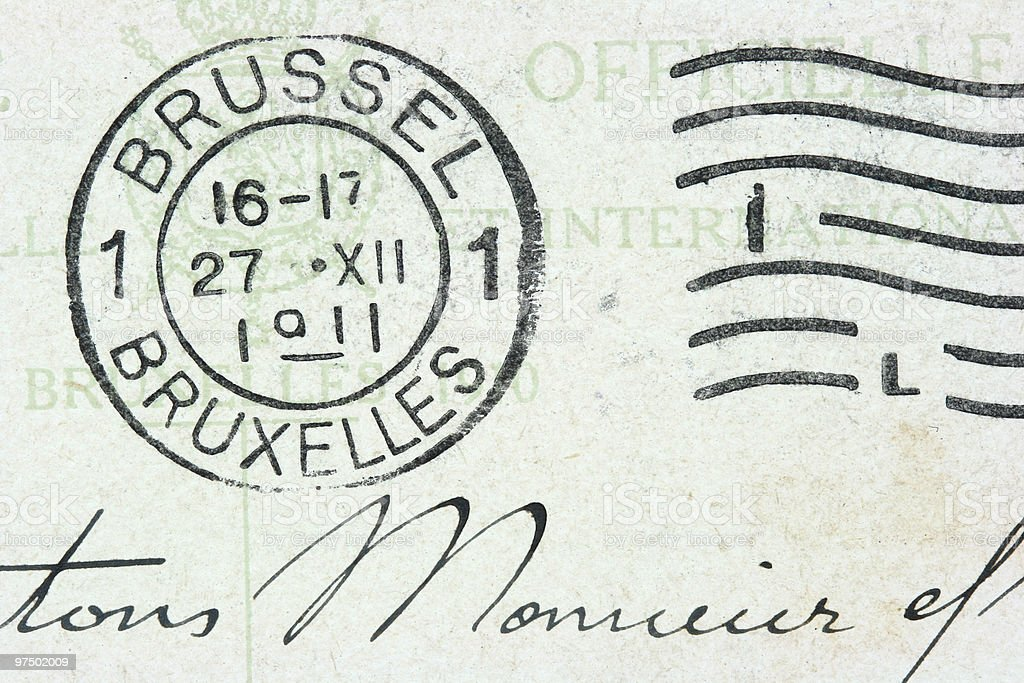 Brussel stamp royalty-free stock photo