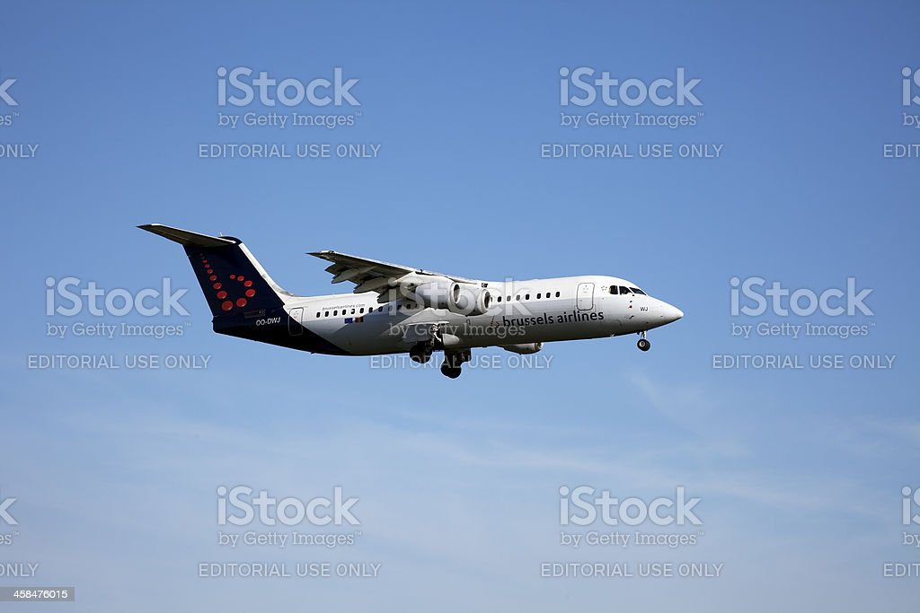 Brussels Airlines British Aerospace (BAe) Avro RJ100 royalty-free stock photo