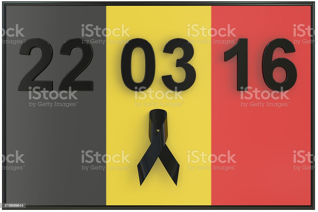 Brussels attacks March 2016 stock photo