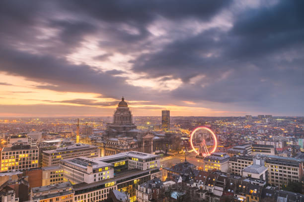 Brussels, Belgium Cityscape stock photo