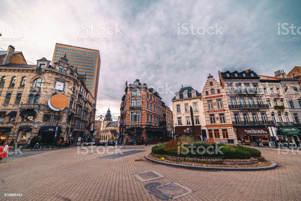 Brussels City Centre stock photo