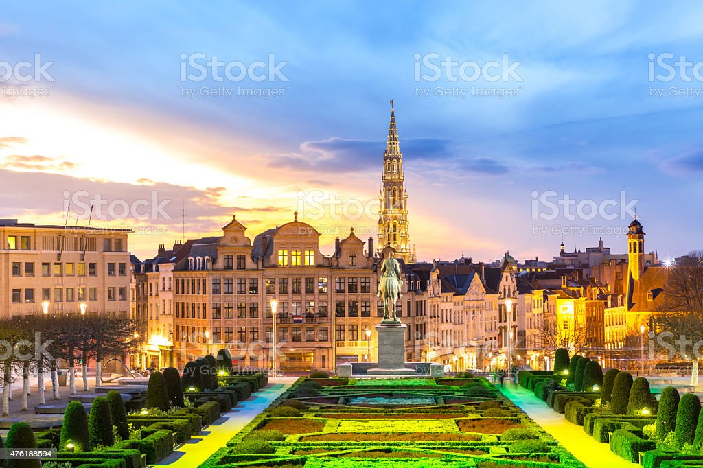 Brussels Cityscape Belgium stock photo
